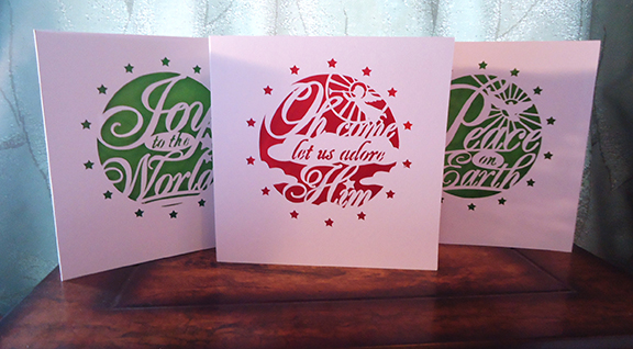 The combo range of Christmas Cards