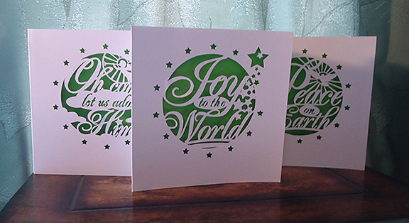 The green range of Christmas Cards