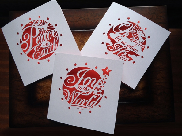 The red range of Christmas cards
