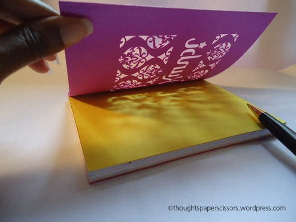 Open mini notebook