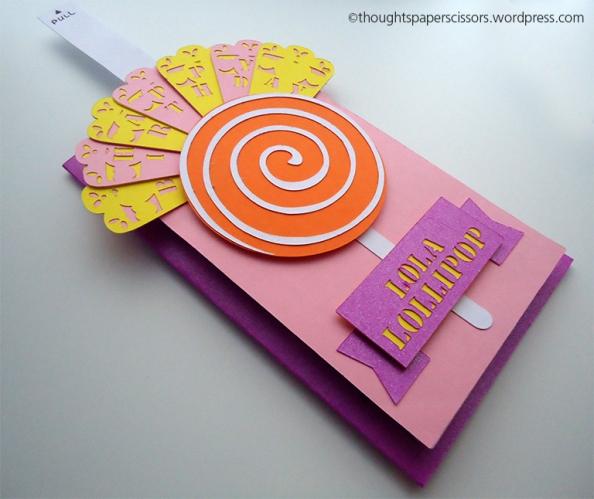 Card with fan fully open
