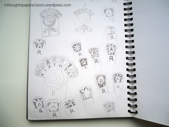 Sketches of my ideas for the cut out on the fan