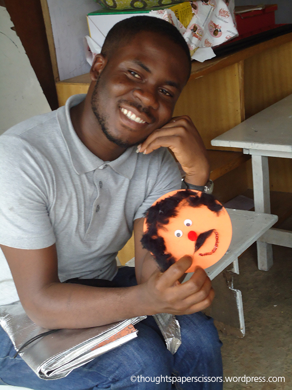 Bolaji Junaid with one of my smiley faces.