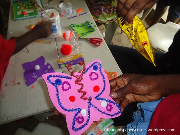 I love this butterfly by one of the older children. Such talent.