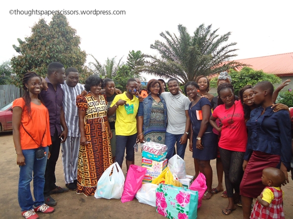 Gift presentation to the orphanage
