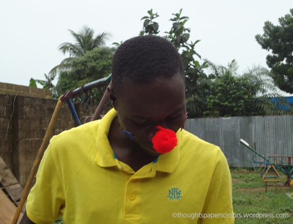 Hephzibah's red nose really suited his personality. He's currently studying to be an architect.