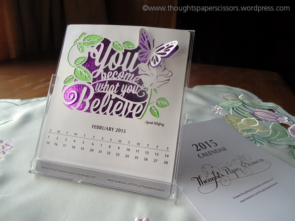 February: 2015 Monthly CalendarProject