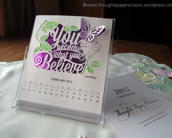 February: 2015 Monthly Calendar Project