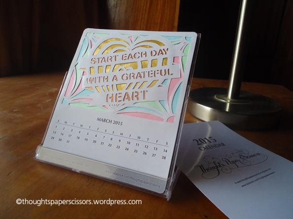 March 2015 Monthly Calendar Project