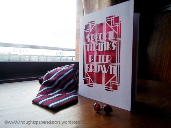 Customised Thank You Cards Thoughts Paper Scissors