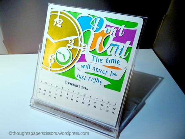 Completed September calendar