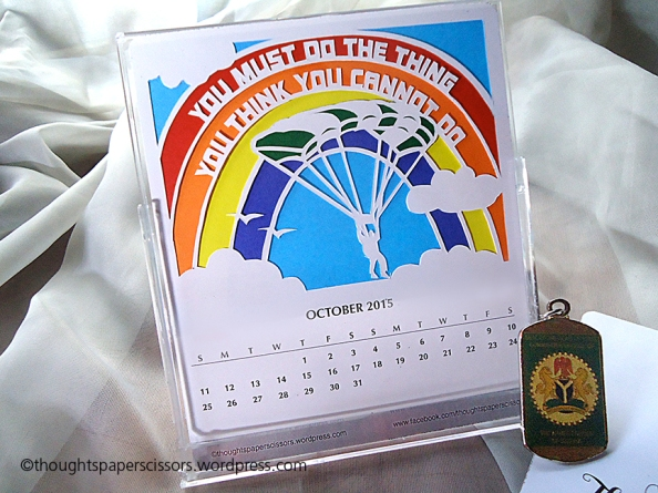 October calendar and the Nigerian Coat of Arms