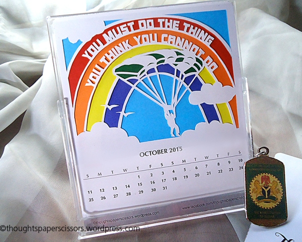 October : 2015 Monthly Calendar Project