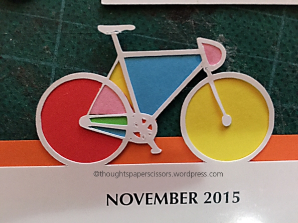 Calendar Bicycle detail